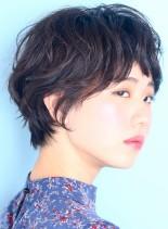 お手入れ簡単パーマ☆ショートボブ(髪型ショートヘア)