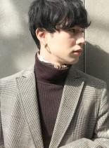 くせ毛風マッシュパーマスタイル(髪型メンズ)