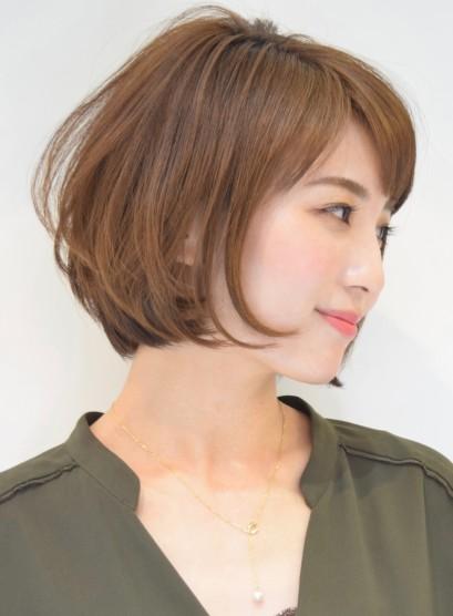 前下がり大人ショートボブ(髪型ショートヘア)