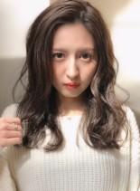 中村アンさん風かきあげロング☆(髪型ロング)