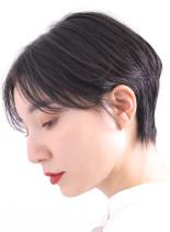 30代☆20代乾かすだけでキマるショート(髪型ショートヘア)