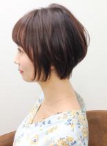 インナーカラー ショートボブ(髪型ショートヘア)