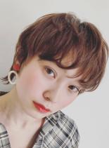 大人ウルフショート(髪型ショートヘア)