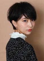 分け目なし☆大人ショートパーマスタイル(髪型ショートヘア)