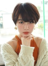 耳周りスッキリ☆美骨格ショート(髪型ショートヘア)