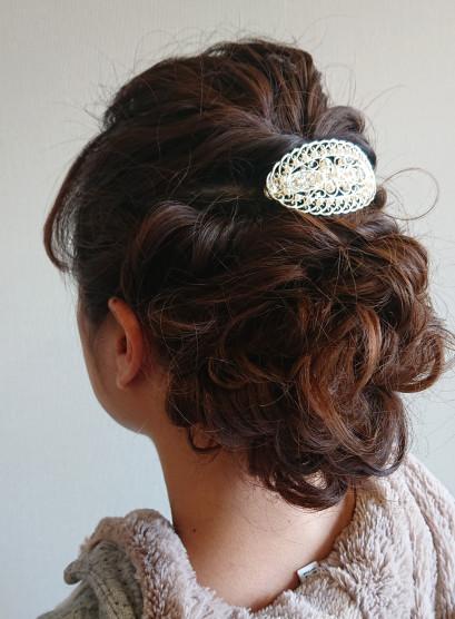 ゆるふわまとめ髪(髪型ロング)