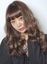 春色ラベージュゆるウェーブロング(髪型ロング)