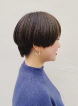 抜け感ハイライトショートボブ(髪型ショートヘア)