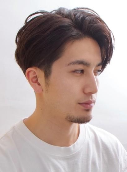 ソフト刈り上げのすっきりメンズスタイル(髪型メンズ)