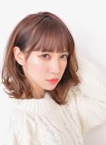 簡単スタイリング☆ニュアンスパーマ(髪型ミディアム)