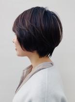 ニュアンスパーマショートマッシュ(髪型ショートヘア)