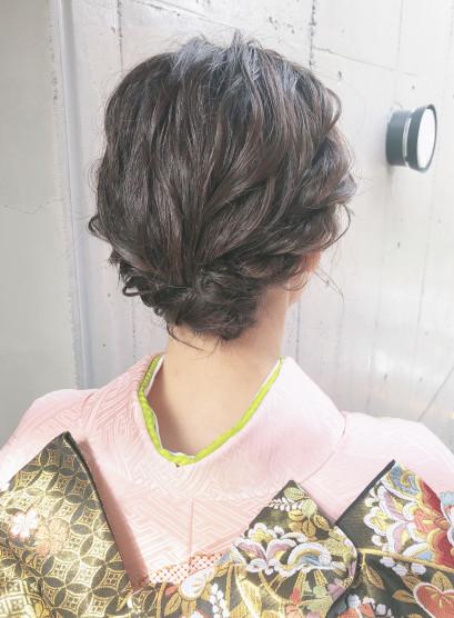 ショートボブヘアアレンジ(髪型ショートヘア)