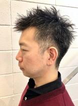 個性的な大人髪型刈り上げモヒカンショート(髪型メンズ)