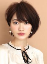 ☆美シルエット☆大人の前下がりショート(髪型ショートヘア)