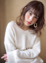 チェリーベージュ☆グラデーション(髪型ミディアム)