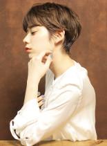 ナチュラルクールなショートヘア(髪型ショートヘア)