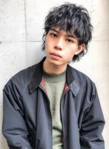 フェザーマッシュウルフ(髪型メンズ)