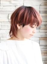 お洒落ハイトーンウルフショート(髪型ショートヘア)
