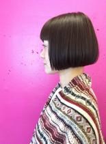 40代ショートボブスタイル(髪型ボブ)