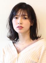 大人かわいい無造作ナチュラルミディ(髪型ミディアム)