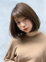 王道人気ワンレンボブ(髪型ボブ)