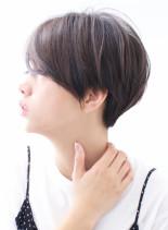 ☆30代、40代 大人の素髪ショート☆(髪型ショートヘア)