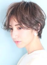 センターパート☆小顔ハンサムショート(髪型ショートヘア)