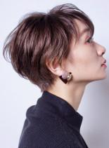 小顔クールショート(髪型ショートヘア)