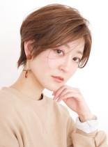 クリーミーショート☆マロンシルエット(髪型ショートヘア)