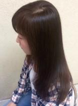 ラウンドカットスタイル(髪型セミロング)