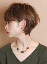大人の柔らかショートボブ☆パーマ(髪型ショートヘア)