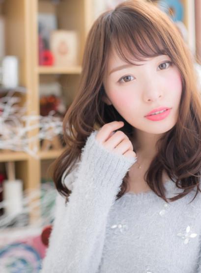 デジタルパーマの美シルエット大人ロング(髪型セミロング)