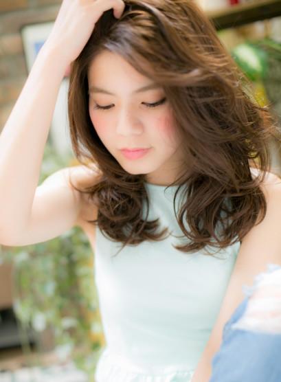 アシンメトリー☆潤いグラマラス大人ロング(髪型セミロング)