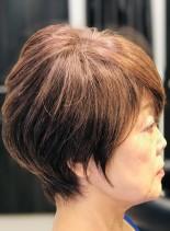 大人ショートグラデーション(髪型ショートヘア)