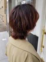 オトナ可愛いウルフカット(髪型ボブ)