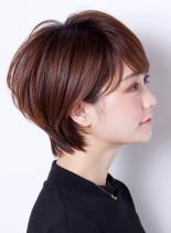 ショートヘア☆秘密の長さで小顔カット☆(髪型ショートヘア)