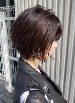 すっきりショートボブ(髪型ショートヘア)