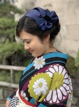 卒業式アップスタイル(髪型セミロング)