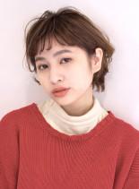 オン眉ショートヘア(髪型ショートヘア)
