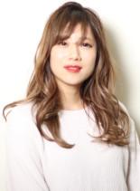 30代人気のロブレイヤースタイル(髪型ロング)