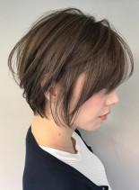 美シルエット×ショート(髪型ショートヘア)