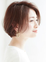 大人ハンサムショートボブ(髪型ショートヘア)