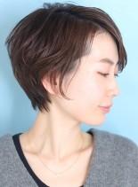 30代*40代大人の小顔ふんわりショート(髪型ショートヘア)