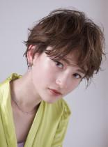 おとな可愛いマッシュショート☆パーマ(髪型ショートヘア)