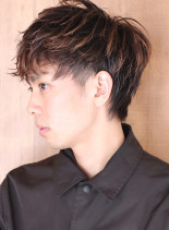 サイド刈り上げ◇無造作パーマショート(髪型メンズ)
