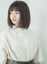 ストレートワンレンボブ☆(髪型ボブ)