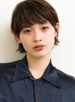 マッシュウルフスタイル(髪型ショートヘア)