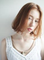 前髪なしハイトーンボブ(髪型ボブ)