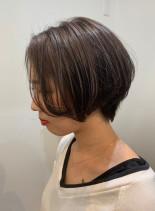 前髪長めショート(髪型ショートヘア)