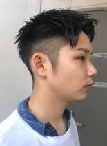 ナチュラル刈り上げメンズヘア(髪型メンズ)
